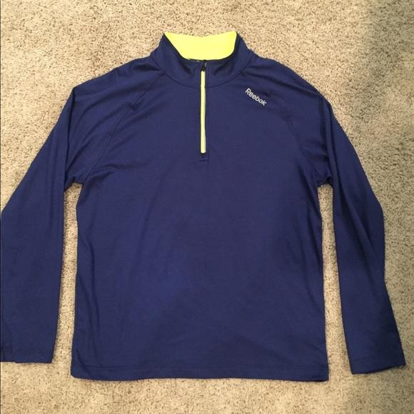 Reebok Boys Sweatshirt Lightweight Long Sleeve Quarter-Zip Pullover Athletic Performance Shirt